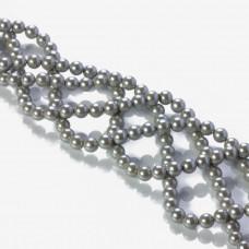 Perły seashell kulki srebrne 6mm