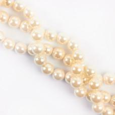 Perły seashell kulka biała 12mm