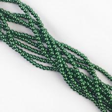 Perły szklane zielone 4 mm