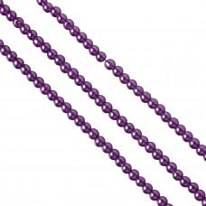 Perły szklane 6mm fioletowe
