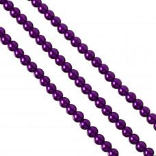 Perły szklane 8mm soczysty fiolet