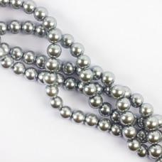 Perły szklane kulki srebrne 10mm