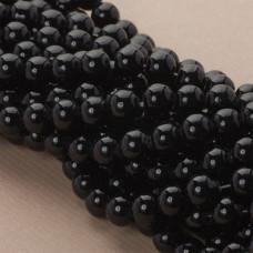 Perły szklane czarne 10mm