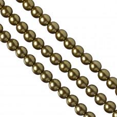 Perły szklane w kolorze starego złota 12mm