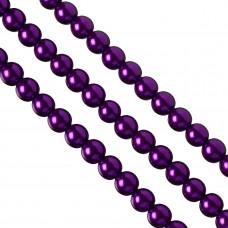 Perły szklane 12mm soczysty fiolet