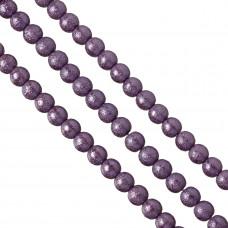 Perły szklane drapane fioletowe 10 mm