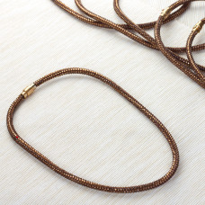 Naszyjnik star dust bronze shade 6mm