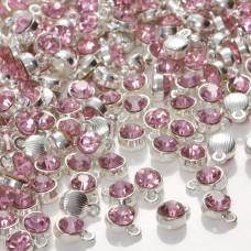 Zawieszka z kryształkiem light rose  7mm