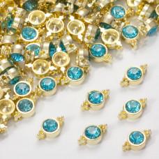 Przekładka z kryształkiem koloru złotego aquamarine 10mm
