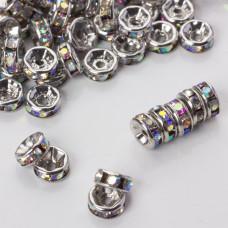 Przekładka rondelek z kryształkami crystal ab 6mm