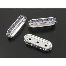 Przekładka z kryształkami tanzanite 3 dziurki
