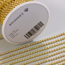 Taśma z kryształkami kolor złoty jonquil 2mm