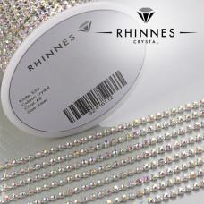 Taśma z kryształkami kolor srebrny crystal AB 2mm