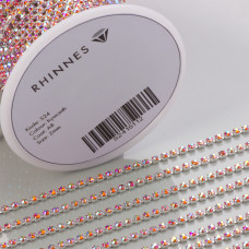 Taśma z kryształkami kolor srebrny hyacinth AB 2mm