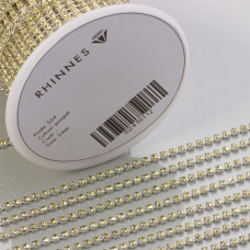 Taśma z kryształkami kolor srebrny jonquil 2mm