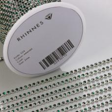 Taśma z kryształkami kolor srebrny emerald 2mm