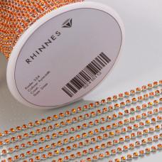 Taśma z kryształkami kolor srebrny hyacinth 2mm