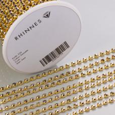 Taśma z kryształkami kolor złoty hematite 3mm