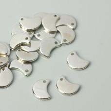 Zawieszki akrylowe półksiężyc 13,5x17,5mm
