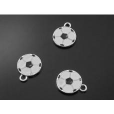 Zawieszka piłka czarna 10.5mm
