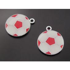 Zawieszka piłka czerwona 19mm