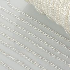 Łańcuszek simple w kolorze srebrnym 2mm