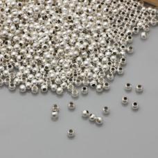 Posrebrzane kulki gładkie 2mm
