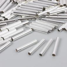 Proste rurki w srebrnym kolorze 25x4mm