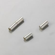 Zapięcie magnetyczne rurki srebrny 3,5mm