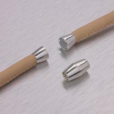 Zapięcie magnetyczne cygaro w kolorze srebrnym 5,5mm