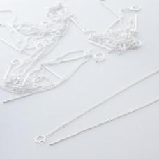 Baza do kolczyków z łańcuszkiem srebrna 9,5mm