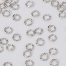 Kółeczka zaciskowe w kolorze ciemnego srebra 5,5x1mm