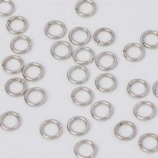 Kółeczka zaciskowe w kolorze ciemnego srebra 6x1mm