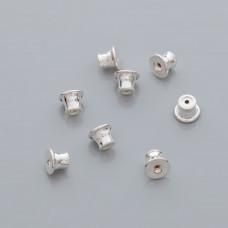 Srebrne baranki z silikonem, próba Ag925, 5 mm