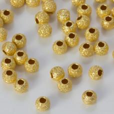Srebrne kulki diamentowe pozłacane próba 925 4mm