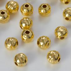 Srebrna kulka młotkowana pozłacana próba 925 6mm