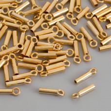 Końcówki do rzemieni i linek, Ag 925,  pozłacane 1,5mm