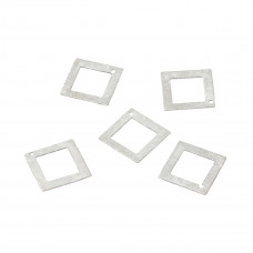 Srebrny kwadrat satynowy wycinany 14mm