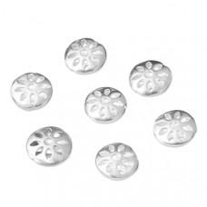 Srebrny dysk w kwiatki, Ag925 12mm
