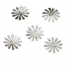 Przywieszka srebrna kwiatek karbowany 14mm, Ag925