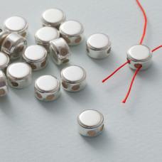 Zapięcie silikonowe stoper gładkie Ag925 9 mm