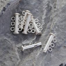 Srebrne zapięcie trzy oczka 20mm, Ag925