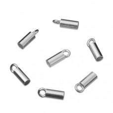 Srebrne końcówki do linek i rzemieni 3mm, Ag925