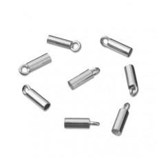 Srebrne końcówki do linek i rzemieni 2,5mm, próba Ag925 2,5mm