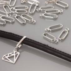 Srebrna krawatka podłużna, 20x7mm, Ag925