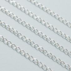 Łańcuszek simple diamentowany 6x3mm