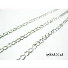 Srebrny łańcuch diamentowany 3,3x4,2mm, Ag925