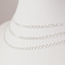 Srebrny łańcuszek romb diamentowany, próba Ag925 2.5mm