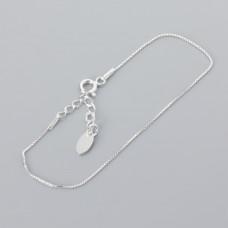 Srebrna bransoletka kosteczka z przedłużką, Ag925 18cm