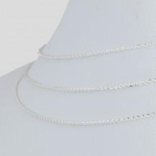 Łańcuszek simple diamentowany 0,5mm, Ag925